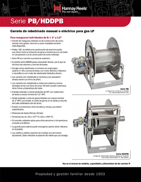 PB / DPB Series Reels (Spanish)